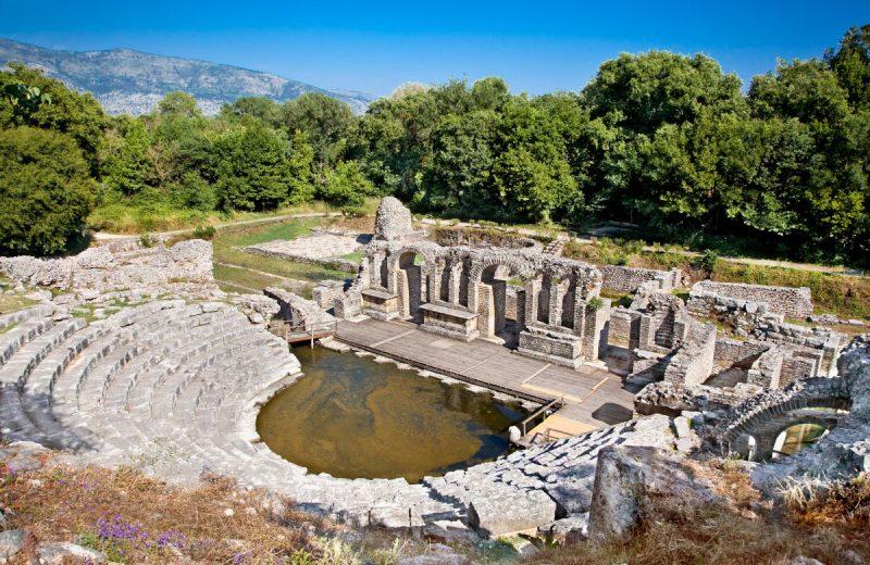 Theater Bühne von Butrint, Albanien